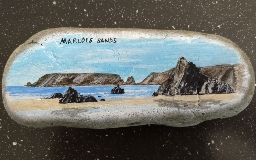 Marloes Sands on stone