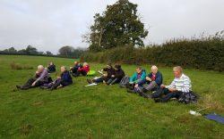 Thursday Walkers having a break sitting on the grass