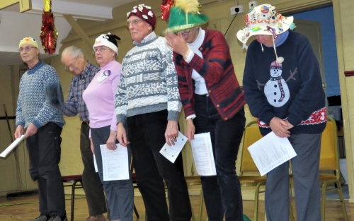 U3A performers standing in a row