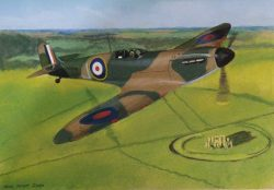 6 May 2021 Remembering VE DaySpitfire type 1 over Stone Henge by Nick Hunt